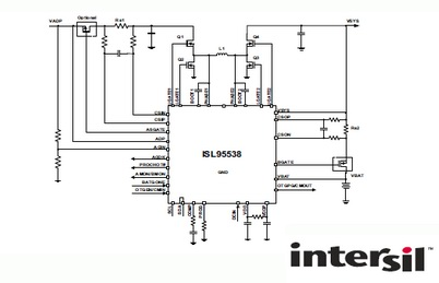 Intersil推出SMBus和OTG功能的升降压方案ISL95538