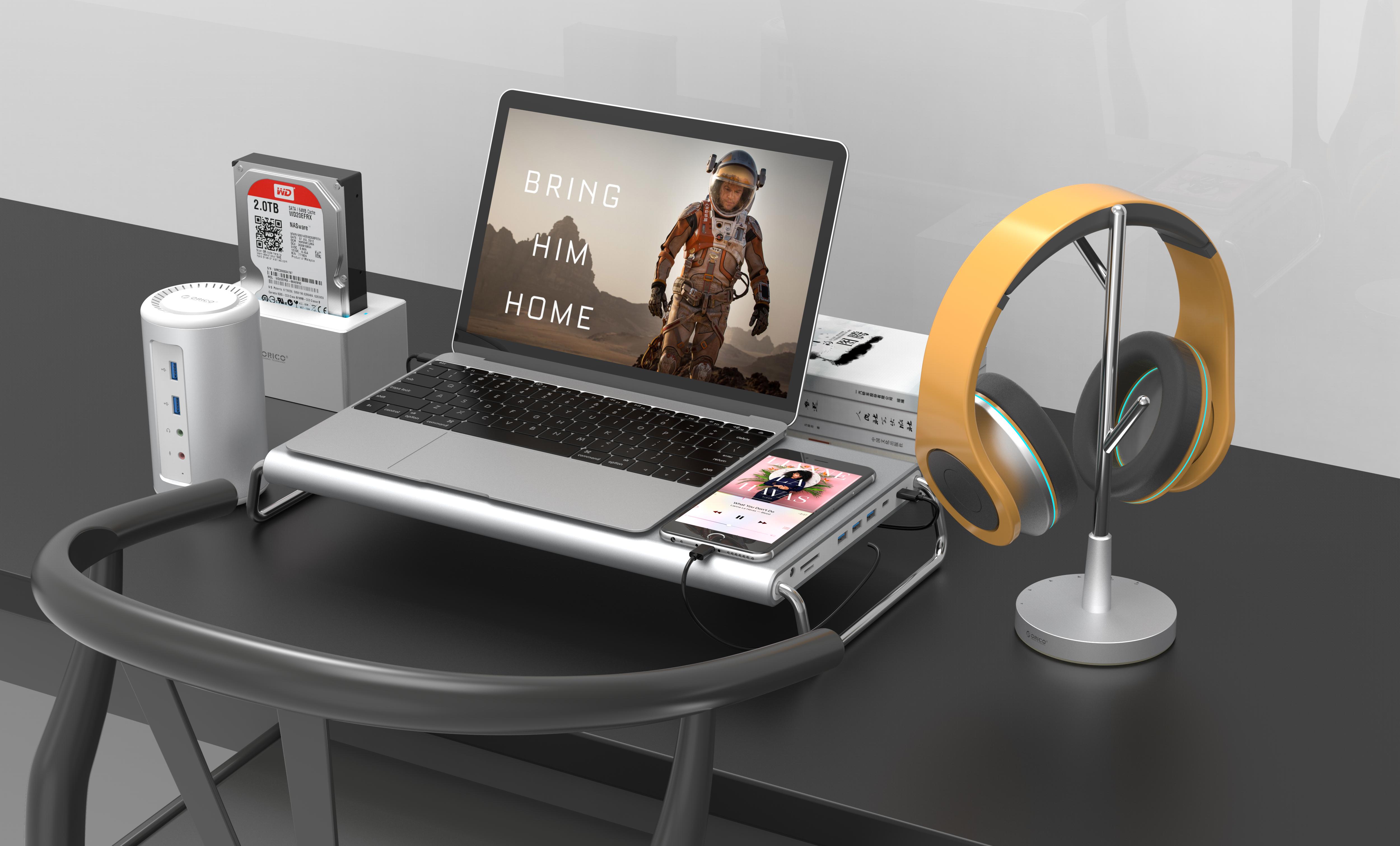 ORICO推出一款支持USB PD充电的耳机支架