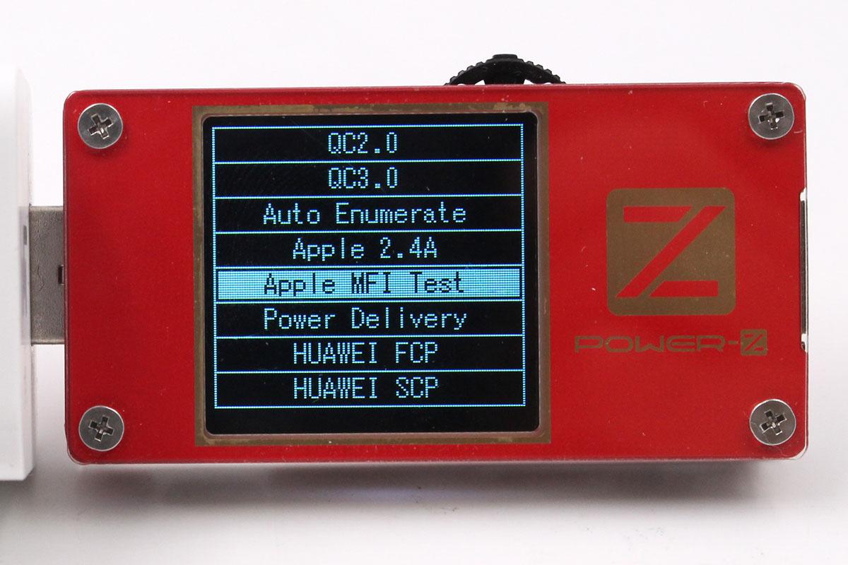 ChargerLAB POWER-Z KT001使用小技巧:一键检测苹果数据线真伪