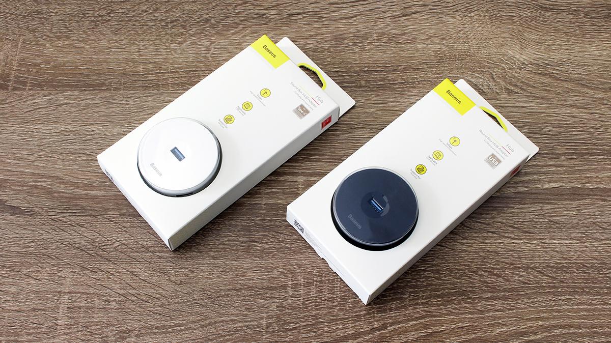 USB接口不够用?倍思小圆盒四合一HUB智能转换器来帮你
