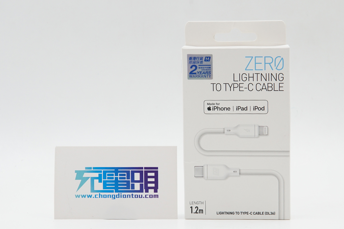 USB-C to Lightning PD快充线登场,MOMAX ZERO LIGHTNING TO TYPE-C CABLE评测(DL36W)
