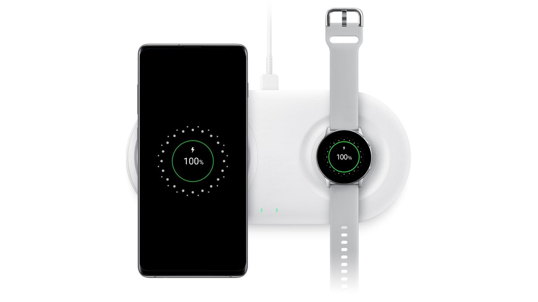三星上架双项无线充电底座2019:支持双设备无线充-充电头网