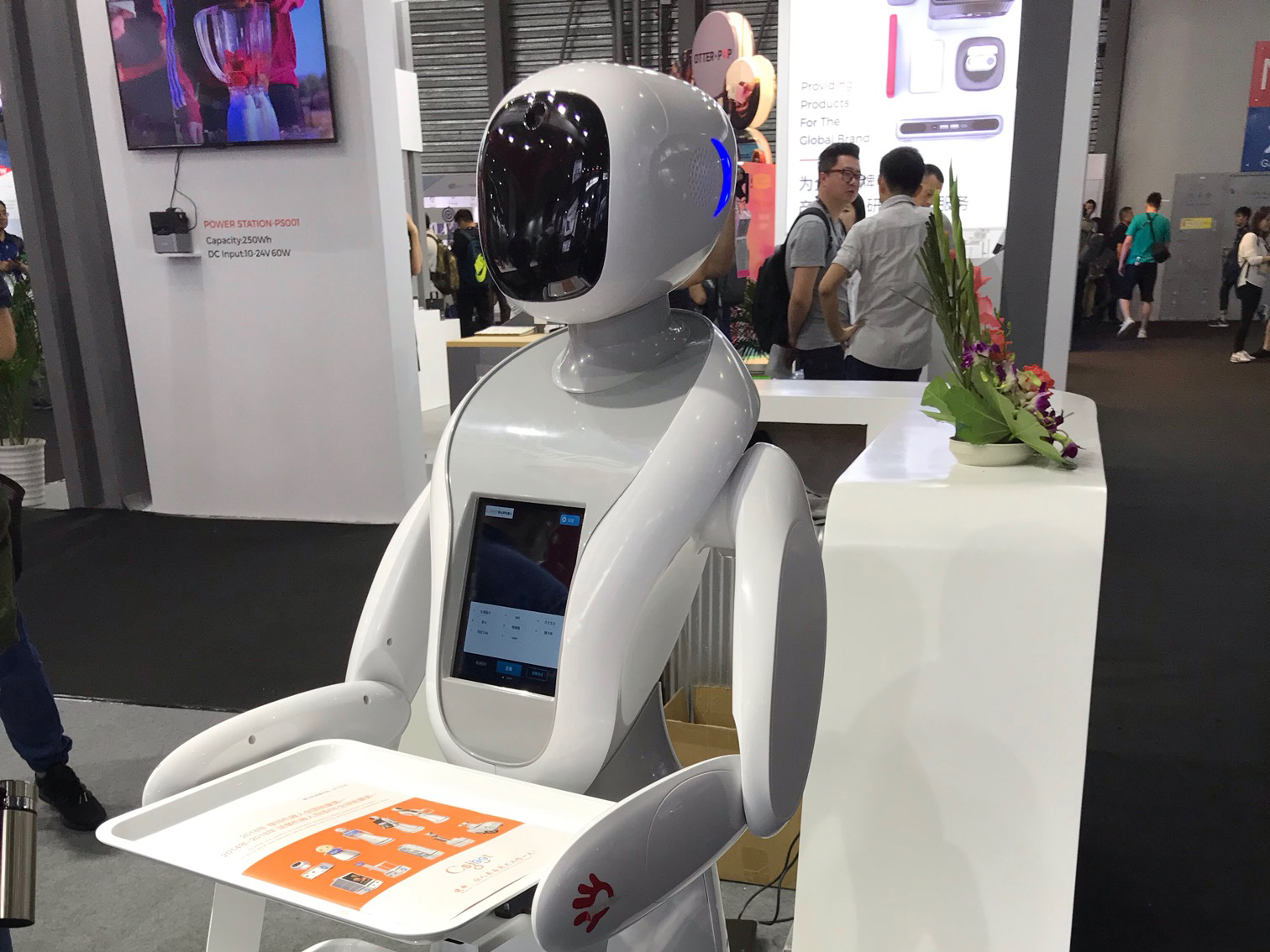 CES Asia 2019:楚山科技发布大功率机器人无线充电方案
