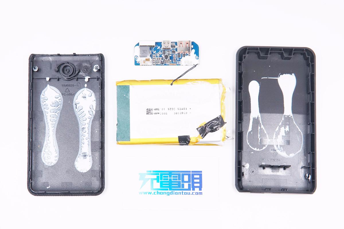 拆解报告:ONN 10000mAh 18W PD双向快充移动电源