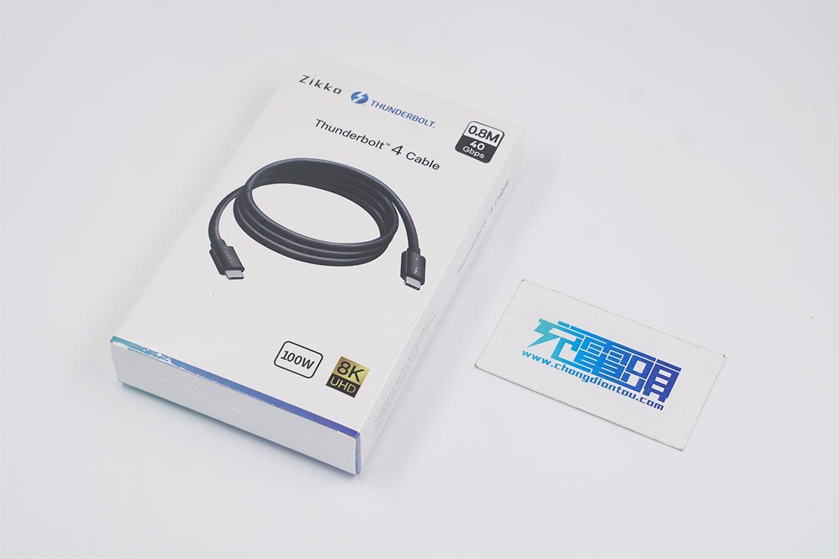 国内首款搭载雷电4传输协议的Zikko即刻Thunderbolt 4数据线评测-充电头网