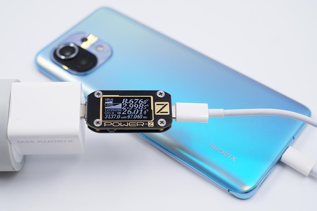 小身材,大功率,小米33W氮化镓充电器评测-充电头网