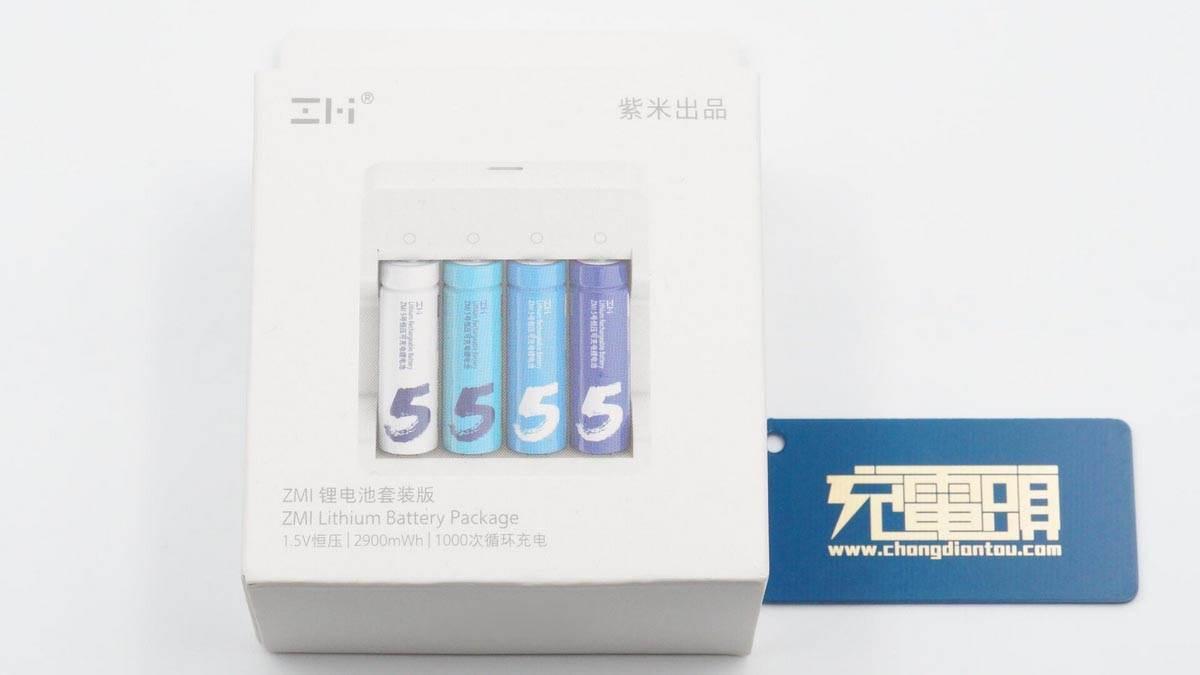 拆解报告:ZMI紫米可充电5号锂电池套装-充电头网