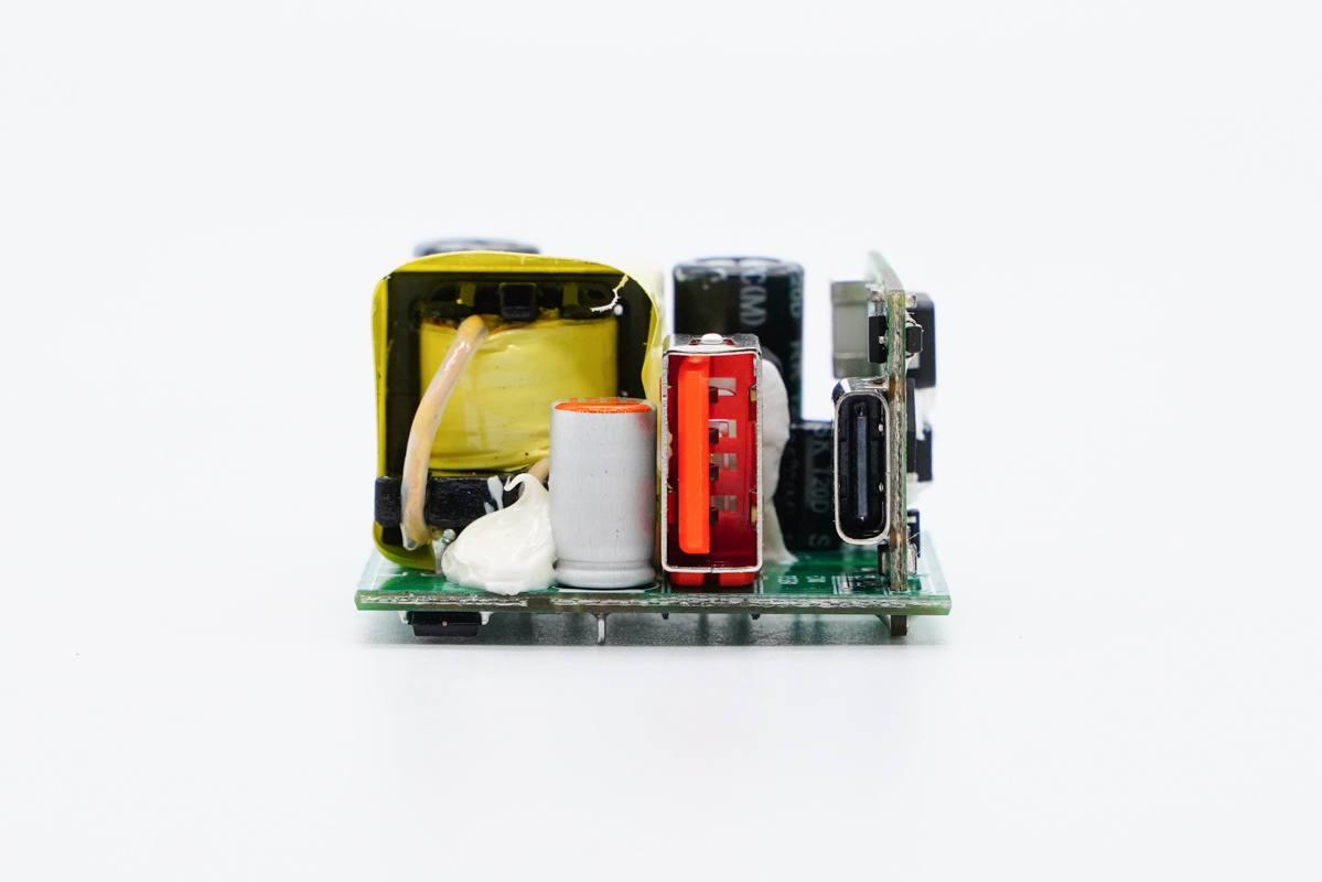 拆解报告:Rapoo雷柏20W 1A1C充电器-充电头网