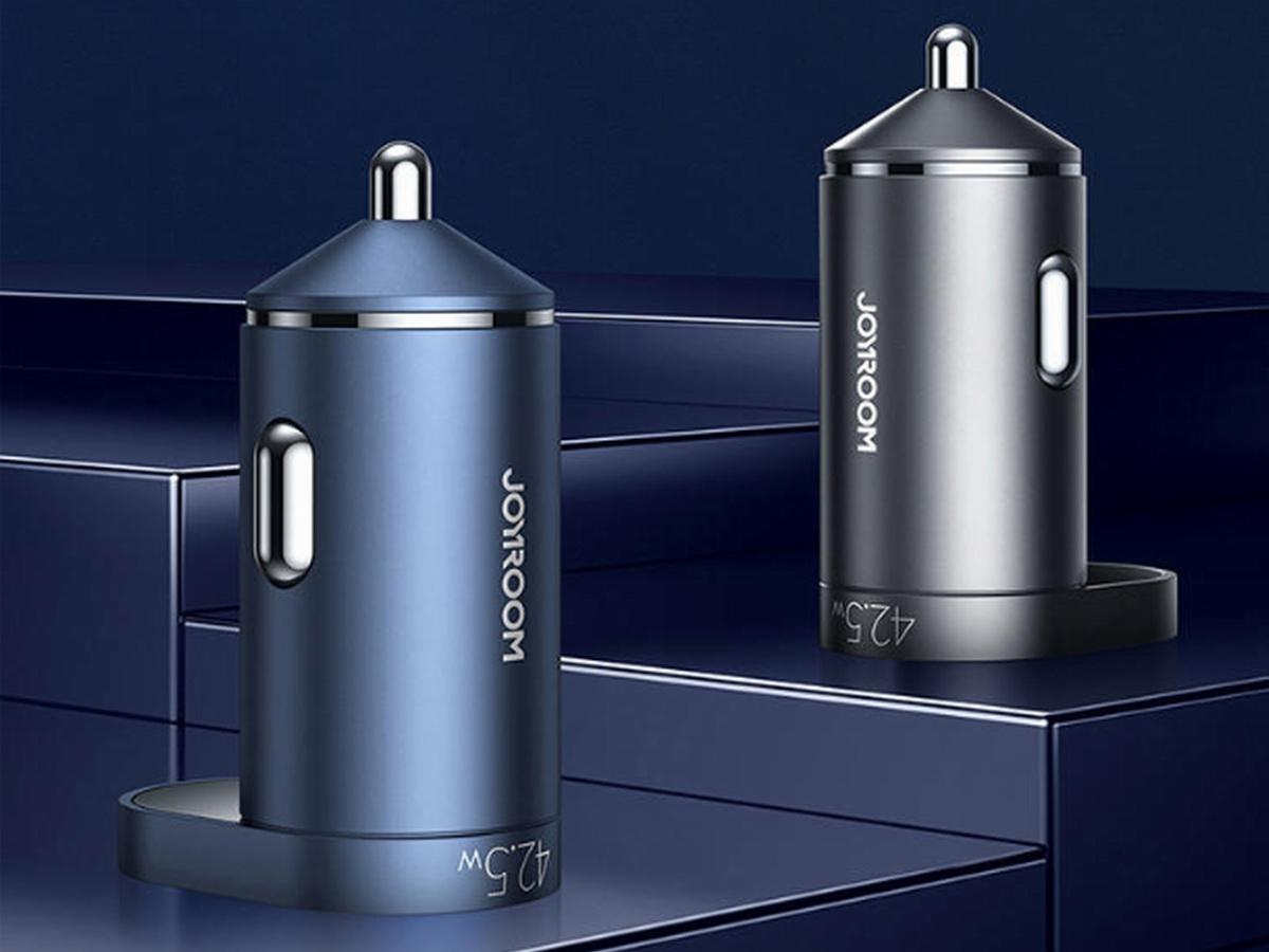 机乐堂推出42.5W 1A1C数显车充,支持双口同时快充-充电头网