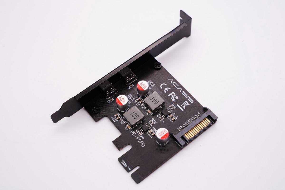 阿卡西斯推出PCI-E快充卡,台式电脑拥有双口PD输出-充电头网