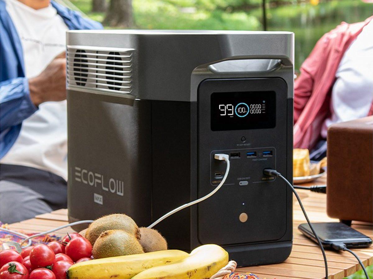 2度电储能2400W输出,EcoFlow正浩发布德DELTA Max户外电源-充电头网