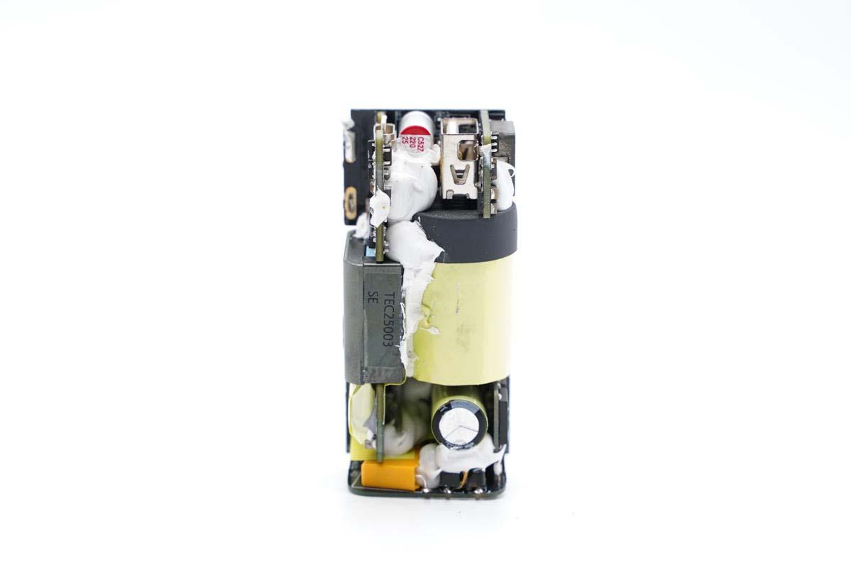 拆解报告:MI小米65W 1A1C氮化镓充电器AD652G-充电头网