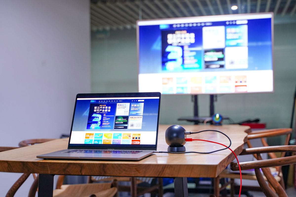 支持真4K无线投屏,UGREEN绿联毫米波无线投屏器评测-充电头网