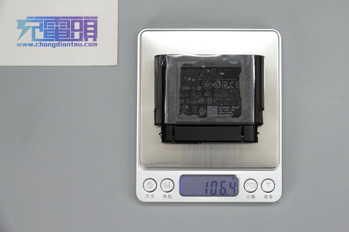 拆解报告:DELL戴尔43Wh+45W快充二合一移动电源PH45W17-BA-充电头网
