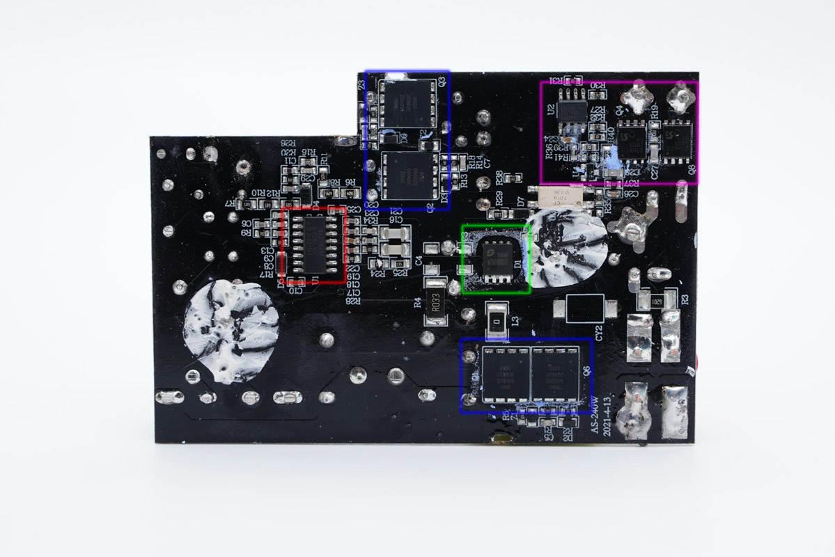拆解报告:安述智能240W氮化镓+碳化硅适配器AS-240W-充电头网