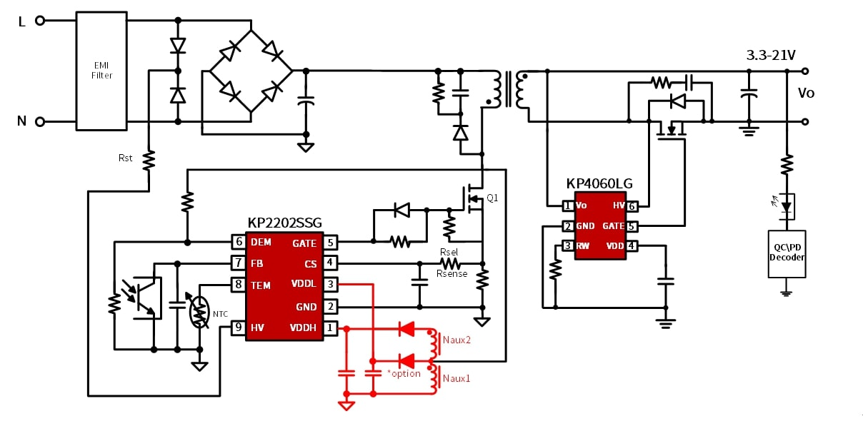 """必易微高达500kHz的单管反激氮化镓驱动控制器,解决了""""卡脖子""""!-充电头网"""