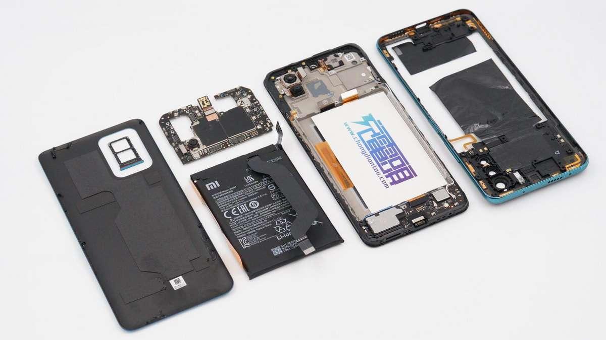拆解报告:Redmi红米Note 10 Pro手机-充电头网