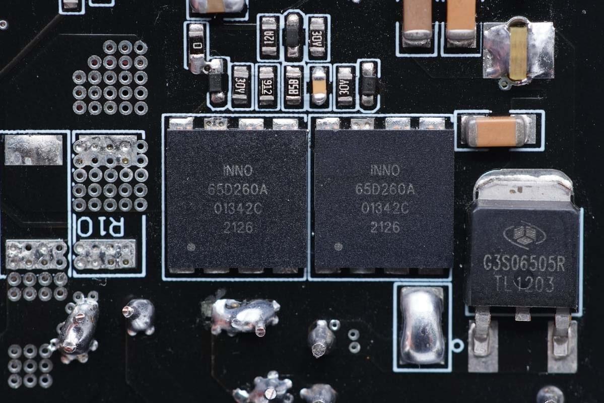 200W大功率,双口快充不降速,英诺赛科氮化镓demo测试-充电头网