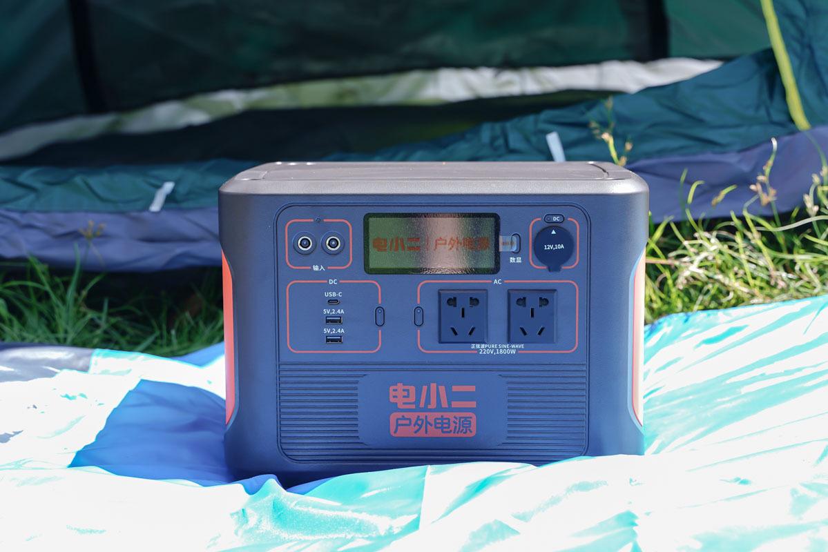 今天来介绍个大件儿,电小二户外电源1800W评测-充电头网