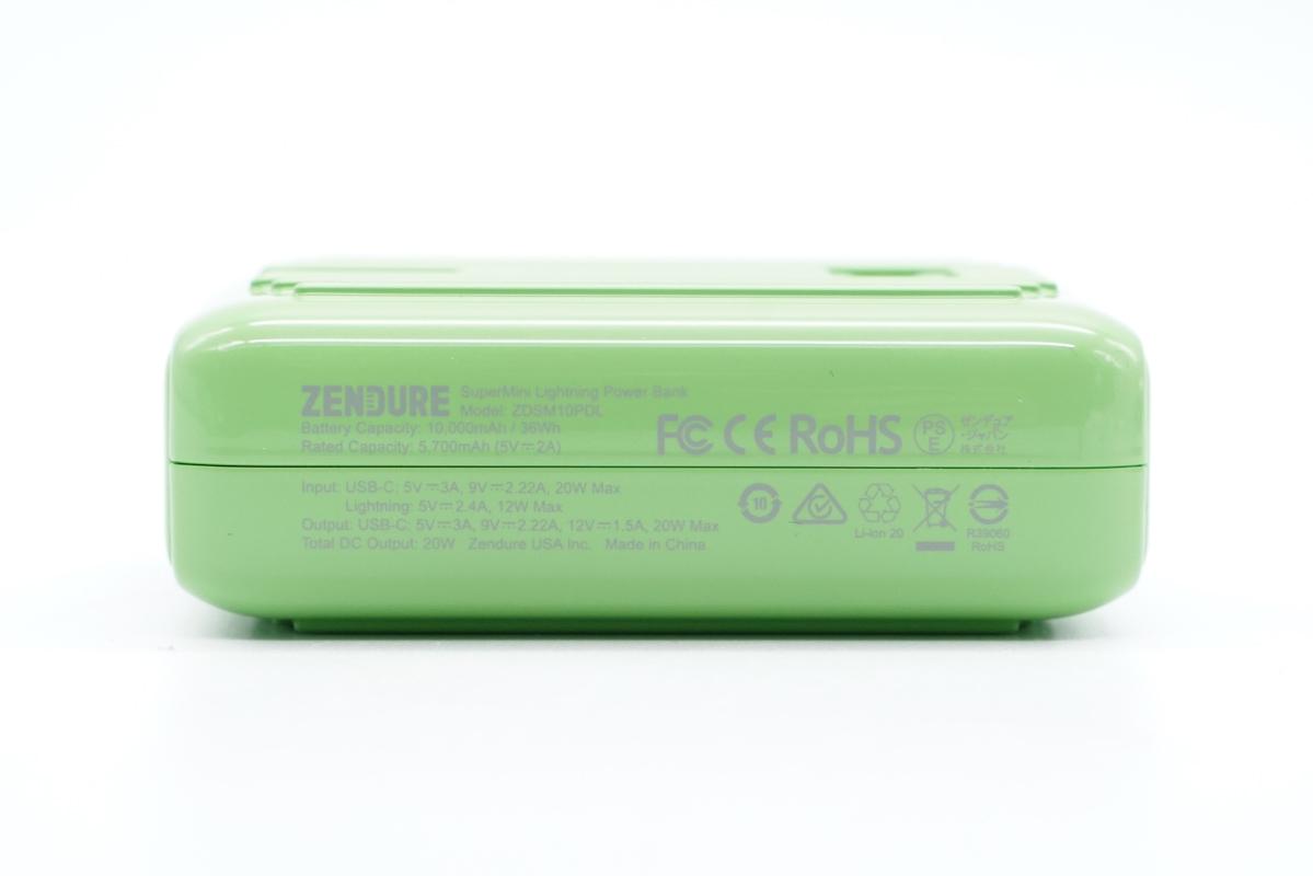 艺术充电宝鉴赏,Zendure征拓Supermini Lightning充电宝评测-充电头网