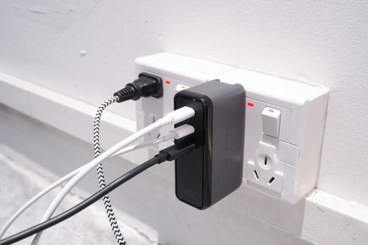 3C接口配置,108W大功率快充,SATECHI氮化镓充电器评测-充电头网